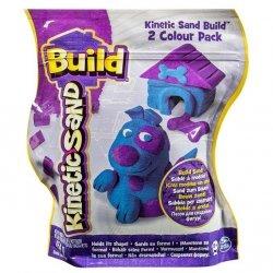 Spin Master Kinetic Sand Build - piasek konstrukcyjny 2 kolory purpura-niebieski 454g