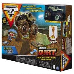 Monster Jam Zestaw z Piaskiem Kinetycznym Deluxe