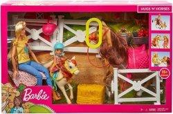 Mattel Barbie Stadnina koni Zestaw + Lalki