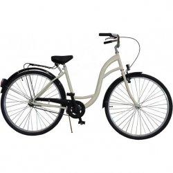 Rower Miejski Damski 26 Classic Kremowy