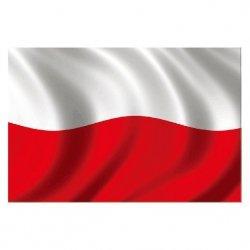 Naklejka Magnetyczna 30X20Cm Polska Flag