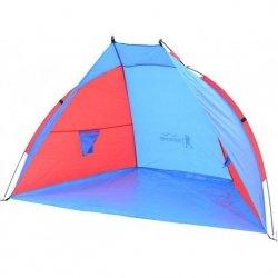 Namiot Osłona Plażowa Sun 200X120X120Cm Niebiesko-Czerwona Royokamp