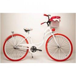Rower Miejski Vivienne Folk 26 3B Nexus Biały / Czerwona Opona