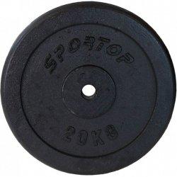 Obciążenie Żeliwne Czarne 20 Kg Sportop Fi26
