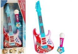 Gitara Elektryczna z Mikrofonem Struny Zabawka Róż