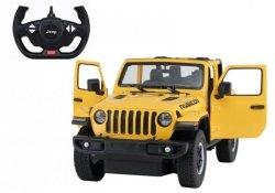 Auto R/C Jeep Wrangler Rubicon 1:14 Rastar żółty