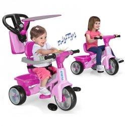 Feber Rowerek trójkołowy 3w1 Baby Plus Music Różowy