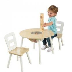 KidKraft Stolik drewniany + 2 krzesełka