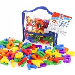 Zestaw Magnetycznych literek i cyferek Grow'n Up 72 elementy