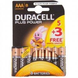Duracell AAA/LR03, Alkaline Plus Power MN2400, 8 pc(s)