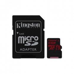 Kingston UHS-I Video Speed Class (V30) 64 GB, MicroSDXC, Flash memory class 10, SD adapter