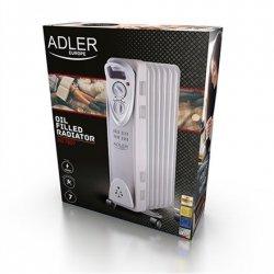 Adler AD 7807 Oil Filled Radiator, Number of power levels 2, 1500 W, Number of fins 7, White