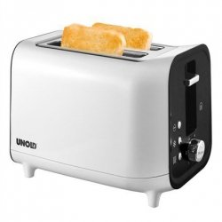 Unold Toaster 38410 White/ black, Plastic, 800 W, Number of slots 2, Number of power levels 6, Bun warmer included