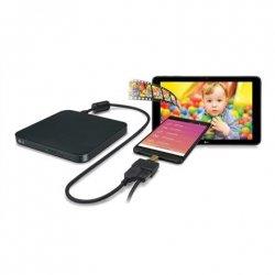 H.L Data Storage Ultra Slim Portable DVD-Writer Black