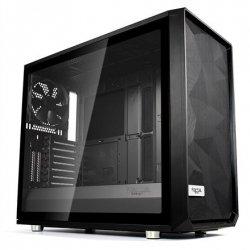 Fractal Design Meshify S2 Black - TG Side window, Black, E-ATX, Power supply included No