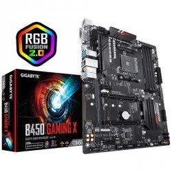 Gigabyte B450 GAMING X Processor family AMD, Processor socket AM4, DDR4 DIMM, Memory slots 4, Chipset AMD B, ATX