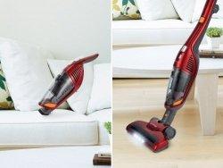 Gorenje Vacuum cleaner handstick 2 in 1 SVC216FS Bagless, Red, 0.6 L, HEPA filtration system, Cordless, 21.6 V, 60 min