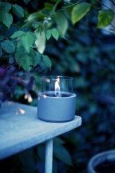 Tenderflame Table burner Lilly MgO Diameter 13 cm, 17.5 cm, 250 ml, 7 hours, Grey