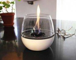 Tenderflame Table burner Tulip 3W Porcelain Diameter 18 cm, 16 cm, 300 ml, 5 hours, White
