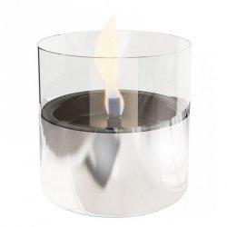 Tenderflame Table burner Lilly 1W Glass Diameter 10 cm, 12 cm, 200 ml, 7 hours, Silver