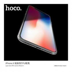 Hoco. Light series Case, Apple, iPhone X, TPU, Transparent