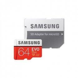 Samsung EVO Plus UHS-I 64 GB, MicroSDXC, Flash memory class 10, SD Adapter