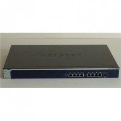 Netgear Switch XS708E-200NES Unmanaged, Rack mountable, 10 Gbps (RJ-45) ports quantity 8, Combo ports quantity 1, Power supply t
