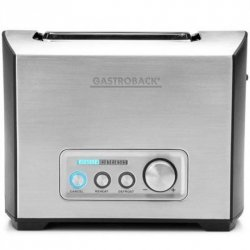 Gastroback Toaster PRO 2S 42397 Stainless Steel/ black, Stainless steel, 950 W, Number of slots 2, Number of power levels 9, Bu