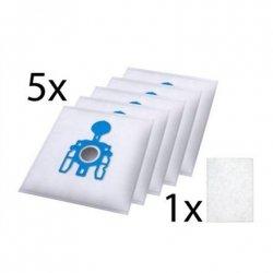Tristar Dust Bag EC-0M02 3 layer microfibre dust bags: 5 pieces, Miele G/N, White