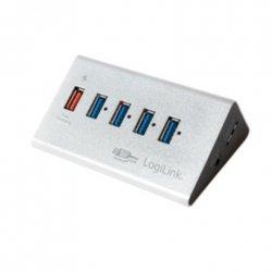 Logilink UA0227 USB 3.0 High Speed Hub 4-Port + 1x Fast Charging Port