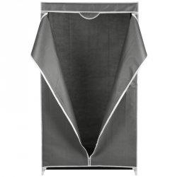 Szafa tekstylna garderoba ciemy szary 80x50x160cm