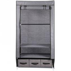 Szafa tekstylna garderoba ciemny szary 88x50x160 cm