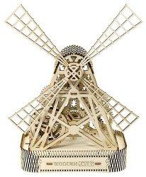 Drewniane puzzle mechaniczne 3D Wooden.City - Wiatrak  #T1