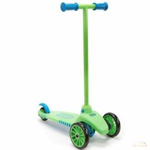 Little Tikes Lean to Turn Hulajnoga zielono-niebieska