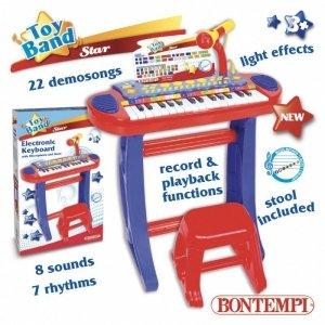 Star Organy elektroniczne ze stołkiem i mikrofonem