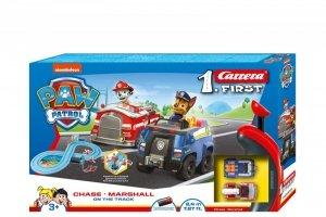 Carrera Tor wyścigowy First na baterie Psi Patrol On the Truck 2,4m