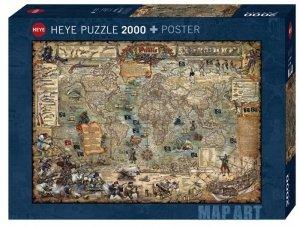 Heye Puzzle 2000 elementów - Świat piratów