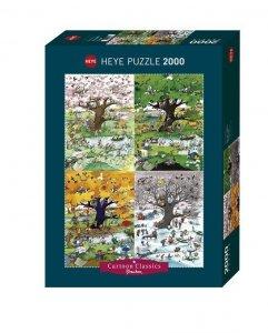 Heye Puzzle 2000 elementów - Cztery pory roku