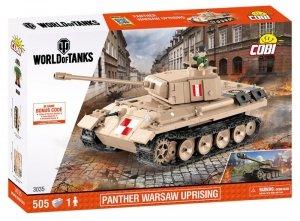 Cobi Klocki Klocki World of Tanks PzKpfw. V Panther - czołg powstańczy