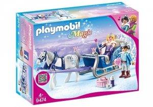 Playmobil Zestaw figurek Sanie z parą królewską