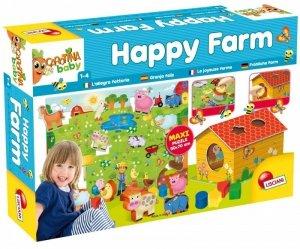 Lisciani Układanka Carotina Baby Puzzle Szczęśliwa farma