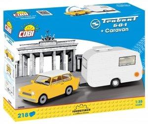 Cobi Klocki Klocki Cars Trabant 601 + Przyczepa kempingowa
