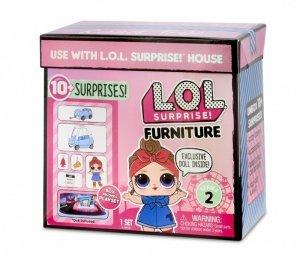 Mga Figurka L.O.L. Surprise Mebelki z lalką, podróż samochodem