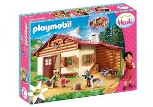 Playmobil Zestaw Figurek Heidi z dziadkiem w górskiej chatce