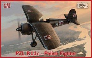Ibg Plastikowy model do sklejania PZL P.11c Polish Fighter 1/32