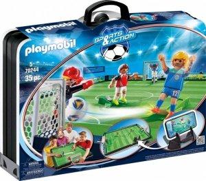 Playmobil Zestaw figurek Duży przenośny stadion piłkarski 70244