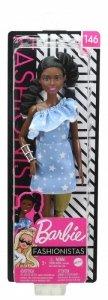 Mattel Lalka Barbie Fashionista błękitna sukienka