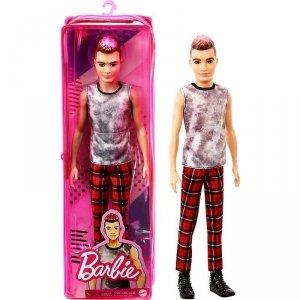 Mattel Lalka Barbie Fashionistas Ken Spodnie czerwona kratka