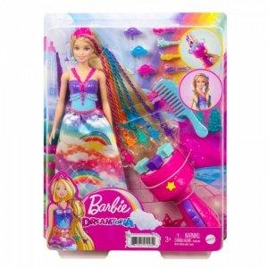 Mattel Lalka Barbie Księżniczka Zakręcone pasemka