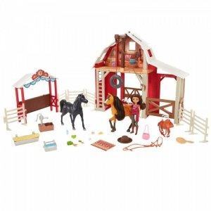 Mattel Zestaw duży Mustang: Duch wolności Stajnia + lalka i 2 konie
